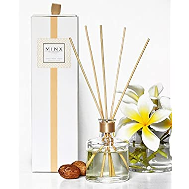 MINX Fragrances 48hr Sale! Vanilla Orchid & Pecan Aromatherapy oil Reed Diffuser GIFT SET by Warn Vanilla, Crushed Pecans & Brown Sugar | Autumn & Winter Scented Air Freshener | Great Gift Idea!
