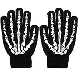 Simplicity Skeleton Gloves Glow in The Dark Halloween Costume Full Finger Gloves