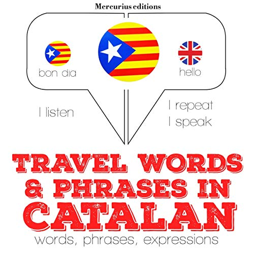 Travel words and phrases in Catalan audiobook cover art