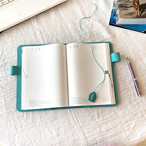[bluebloom]A5手帳カバーしおり付きおしゃれかわいいブルー革本革シュリンク型押しレザー日本製bb011(ブルービートル)