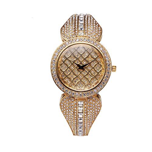Luxury Rhinestone Watch v2852 - Reloj de pulsera para mujer (37 mm)