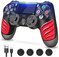 Zcity Mando PS4, Mando Inalámbrico para Playstation 4, Controlador Inalámbrico Gamepad Doble Vibración para Playstion 4,...