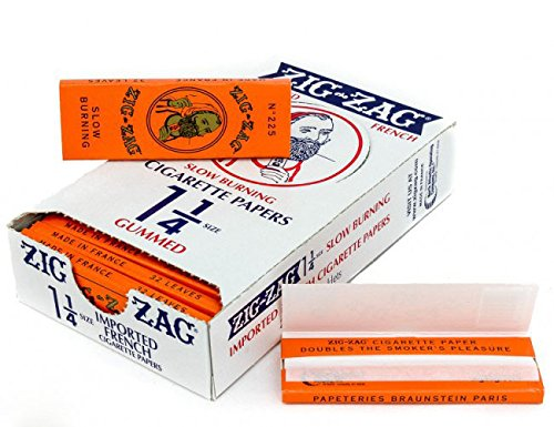 5 Books Zig Zag Rolling Papers Orange 1 1/4 with Free BB Sticker