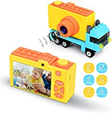 XUDHAH Kids Camera,Best Birthday Gifts Kids Digital Camera1080P HD 2.0 Inches Screen Camera for Kids Toys,Toddler Selfie Video Camera Player for 3-14Year Old