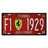 BAYABU Metall-Blechschilder Autoschild Enzo Ferrari Bar Pub