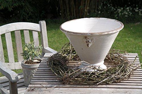 Prosperplast Alzata Leoni Pot de fleurs en céramique Blanc Ø 40 cm