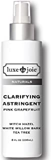 Sponsored Ad - Clarifying Astringent Tea Tree White Willow Bark Witch Hazel Toner Pink Grapefruit 8oz pH Balancing for Cle...