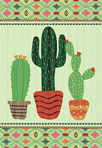 morigins grün kolonnenöfen Kaktus doppelseitig House Flagge, Textil, grün, Small-12.5