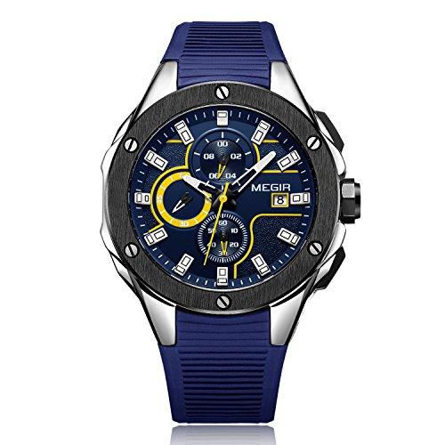 megir Quarzuhr für Männer Casual Sport Uhren Fashion Chronograph Wasserdicht Armbanduhr