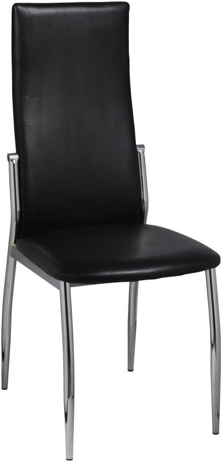 vidaXL Chaise de Salle à Manger alu (Lot de 2) 54 x 43 x 100 2x Noir