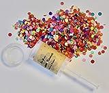 Die Gudn wiederbefüllbare Konfetti Kanönle (6 Stück / Confetti-Push-Pop / Konfettikanone / Popper / Konfettibombe) für jeglichen Anlass (Hochzeit, Geburtstag, Silvester und sonstige Partys).