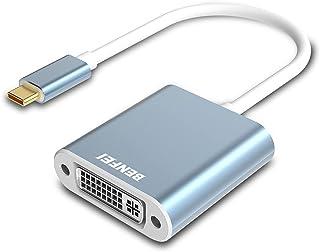 USB C till DVI-adapter, BENFEI Typ-C till DVI-adapter [Thunderbolt 3-kompatibel] för MacBook Pro 2018/2017, MacBook Air/iP...
