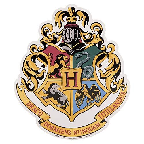 Gryffindor Emblem aus den Offiziellen Harry Potter Büchern, Pappe, Hogwarts Wappen, 61 x 52 x 61 cm