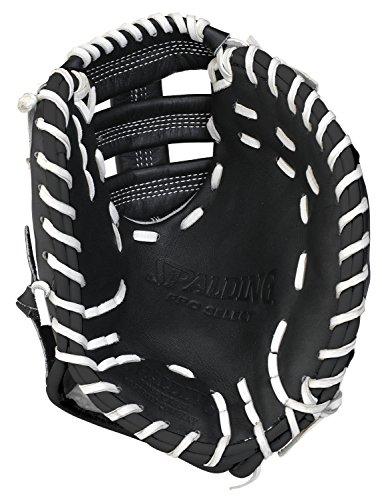 Spalding 42-001BT First Base Training Gloves, Black, 10'
