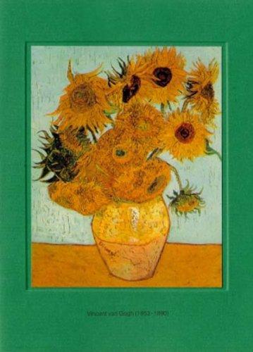 Artoz Kunstkarte Van Gogh: Sonnenblumen, Format B6, EIN Set besteht aus Einlegeblatt, Kuvert und Karte - verpackt zu 6 Sets - Preis für 6 Sets