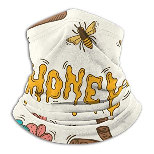 NA Cartoon Honing En Bijenkorf Mannen & Vrouwen Gezichtsmasker Winddichte Nek Gaiter Koud Weer Nek Gaiter