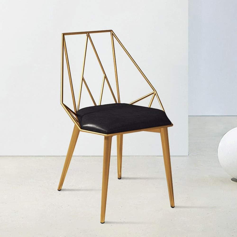 LJFYXZ Chaises Salle Manger Chaise de Bureau Faux Cuir Chaise rembourrée pour Café, Restaurant Décoration d'intérieur Armature en métal (Color : White) Black