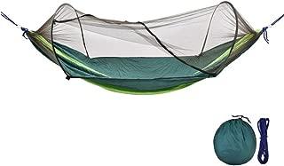 Parachute Nylon Portable Camping Hammock with Mosquito/Bug Net, Portable Anti-Tear Ultralight Hammocks for Yard Beach Outdoor
