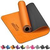 SYOSIN Tapis de Yoga, 6mm Antidérapant Tapis d'exercice Ecologique et Non Toxique en TPE pour L'entraînement à la...
