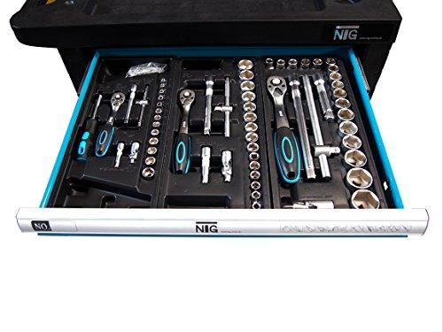 Werkzeugwagen Werkstattwagen Werkzeugkasten Werkzeugkiste + Werkzeug 220 tlg. - 2