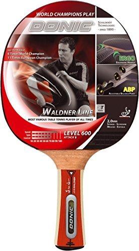 Donic Schildkröt Tischtennis-Schläger Waldner 600 inkl.Gratis-Lern-DVD, schwarz / rot