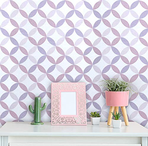 """Pattern Contact Paper Self-Adhesive Shelf Liner Drawer Paper Pink Peel and Stick Shelf Liner Decorative Contact Paper for Drawer Liner Furniture Covering Vinyl Roll 78.7""""x 11.8"""""""