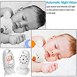 "Baby Monitor Baby Monitor Wireless Live Camera + Talk Back Two Way Audio + Night Vision Temp Sensor + Long Term Signal + Built-in 8 Lullaby to Comfort Baby + 2 ""LCD Screen + Baby Camera Keep an Eye on Baby + Baby Pet Video Monitor Nanny Camera, Home Surveillance Camera For Home Security System XC305"