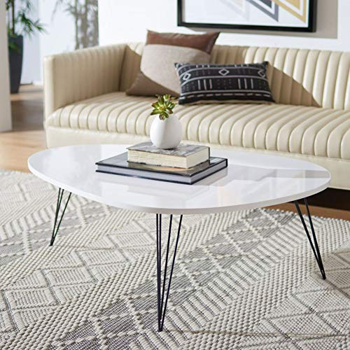 Safavieh Home Collection Wynton Mid-Century Modern White and Black Coffee Table