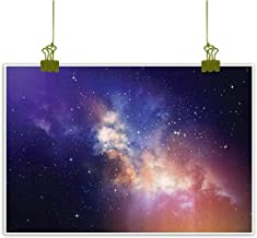 Art Print/Poster Oil Paintings Canvas, Stars in Sky Supernova Comet Constellation Light Years Meteor Planetary Image Art Home Wall Decorations - 16