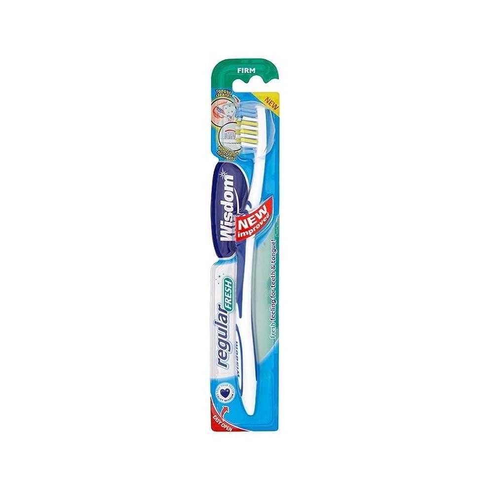 フラッシュのように素早くスポンジ誰が[Wisdom ] 12の知恵定期的に新鮮しっかり歯ブラシパック - Wisdom Regular Fresh Firm Toothbrush Pack of 12 [並行輸入品]