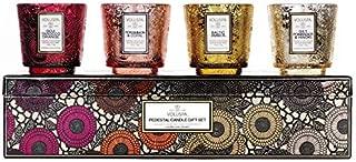 Voluspa Japonica Warm Tones Pedestal Glass Candle Gift Set, 2.5 Ounces Each