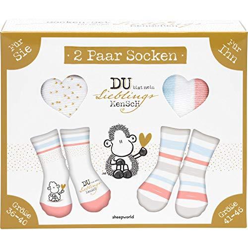 Sheepworld Unisex 46947 Set Motiv Mensch, Geschenkset Socken, Mehrfarbig, 36