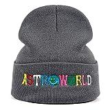 Moda Hip hop gorras ASTROWORLD Algodón Punto Sombrero Travis Scott Caliente Invierno Esquí Beanie Knit Cap...
