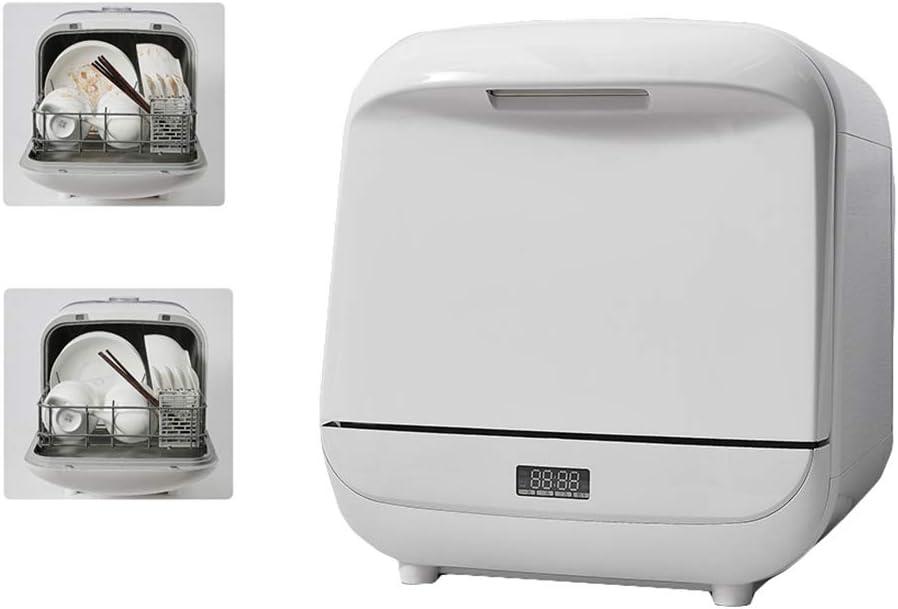 Lavavajillas pequeño escritorio para los electrodomésticos, automática e inteligente, caliente Secado y anti-olor, 3 marchas, extraíble y lavable del tanque de agua
