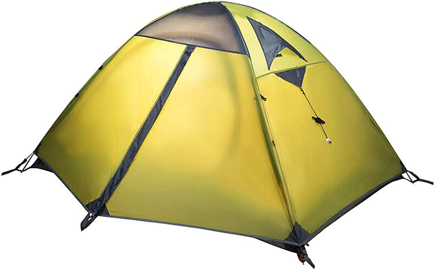 WANGXIAOLIN Tent Camping Windproof and Rainproof Aluminum Pole Double Double Tent (color   Green)