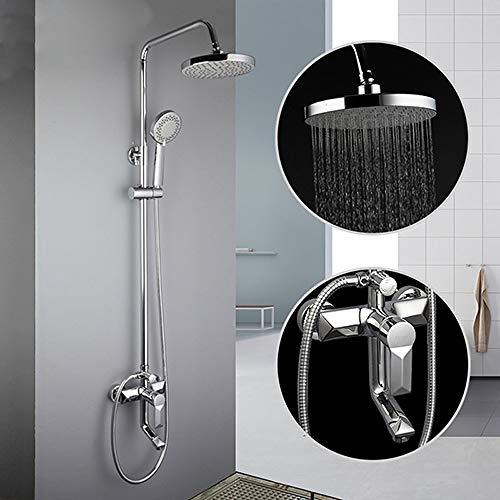HSIYE,Baño Set,Grifos de Ducha Grifo de Ducha de baño contemporáneo Grifos de baño Juego de Cabezal de Ducha de Lluvia Mezclador, F2418, China