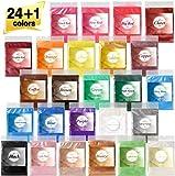 Epoxidharz Farbe metallic 25 Farben, Mica Powder, Epoxy Resin Farbe Farbpigmente Pigmentpulver...