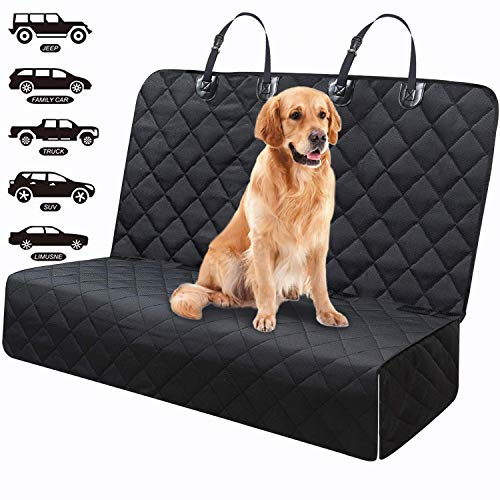 Fityou Dog Car Seat Covers, Waterproof Pet Car Seat Carrier Back, 600D Oxford Fabric Car Hammock for Cat, Protector Rear Car Bench Scratch Proof Heavy Duty Dogs Travel Accessories