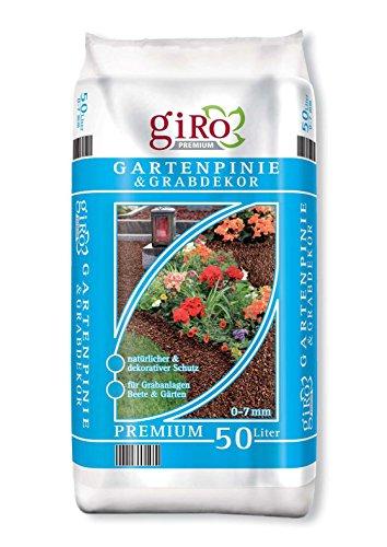 50 Liter Premium Pinienrinde Mulch Rindenmulch Grabdekor Bodengrund 0-7mm