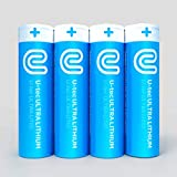 U-tec AA Ultra Lithium Battery (Pack of 4), 3000mAh 1.5V, Longest-Lasting AA Battery, Up to 10 Years in Storage and No Leaks Guaranteed, Works in Extreme Temperatures, Non Rechargeable …