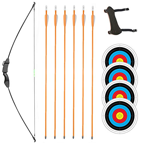 TOPARCHERY Youth Bow and Arrow Set Beginner Takedown Recurve Bow Set...