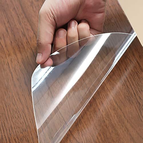 Transparente Muebles Protector De Película, Alta Temperatura Película Protectora De Mesa Mismo-Adhesivo Impermeable Película Ventana para El Vidrio Estufa Nevera-Thick 0.14mm 60x120cm(24x47inch)