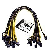 EElabper Mining Power Supply Board 6pin Tot 8pin PCI-E Kabel 1200W 750W BTC Miner PSU-Module