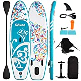 SÄKEE 10FT Inflatable Stand Up Paddle Board with Premium SUP Accessories, Fit...