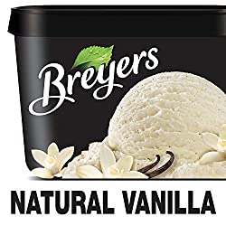 Breyers Original Ice Cream for a Delicious Dessert Natural Vanilla Made with 100% Grade A Milk & Cre