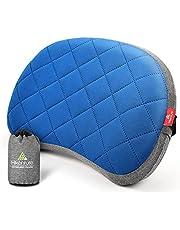HIKENTURE Opblaasbaar campingkussen met afneembare overtrek, reiskussen, opblaasbaar, licht, ergonomisch kussen, onderweg, opblaasbaar hoofdkussen, campingkussen, outdoor, opblaasbaar kussen