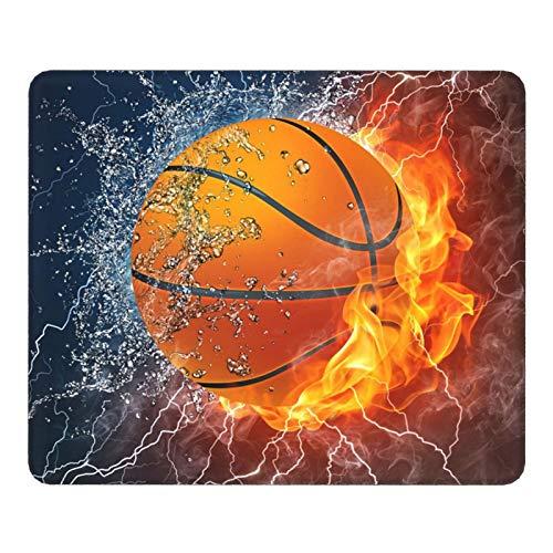 Gaming Mauspad - Vernähte Kanten - 250 x 200 mm - Mouse Pad mit Rutschfestem - Mauspad mit Motiv Klein - Cool Basketball Mouspad für Laptop, Computer & PC - Büro/Haushalt