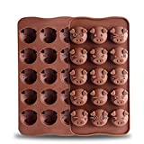 Silicone Chocolate Mold Pig Shaped Silicone Cake Mold Non-stick Mold Jelly and Candy Mold DIY Mold(2 Packs)