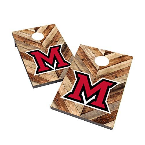 Victory Tailgate NCAA 2x3 Travel Cornhole Set - 2 Boards, 8 Bags - Miami of Ohio Redhawks