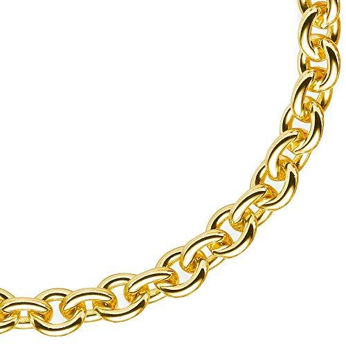 7,5mm Rund-Ankerkette Kette Collier 585 Gold Gelbgold Goldkette 60cm Unisex